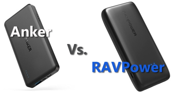 RAVPower vs. Anker PowerCore powerbanks
