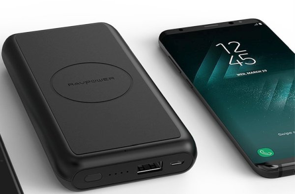 Qi wireless portable charger for Samsung S10, S9+